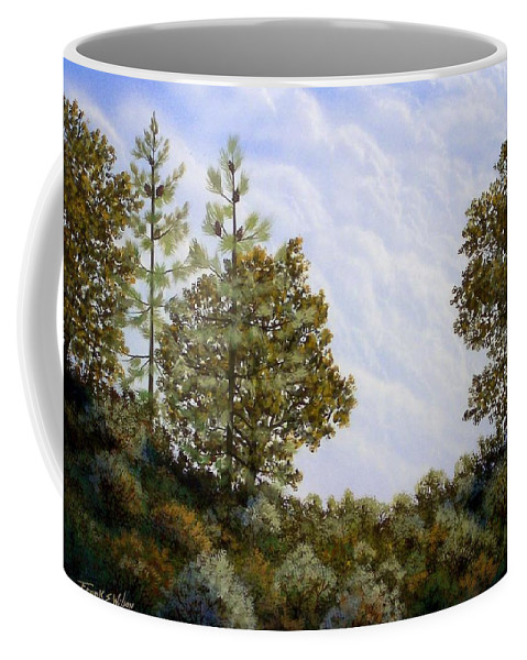 Landscape Coffee Mug featuring the painting Clouds In Foothills by Frank Wilson