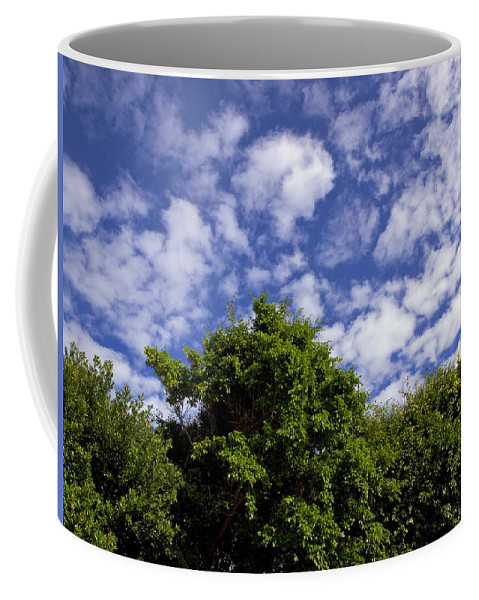 Sky Coffee Mug featuring the photograph Clouds In My Sky by Allan Hughes