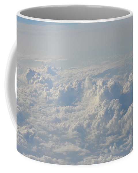 Clouds Coffee Mug featuring the photograph Clouds Like Mountains of Snow by Bill Cannon