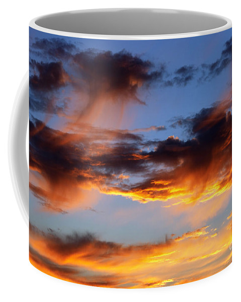 Sunset Coffee Mug featuring the photograph Clouds by Michal Boubin