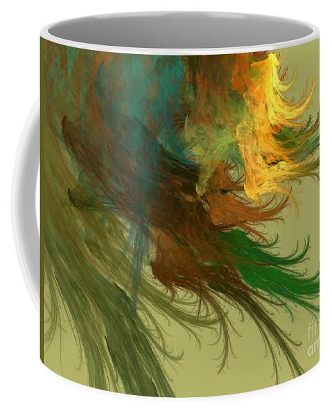Digital Coffee Mug featuring the mixed media Clouds Of Color by Deborah Benoit