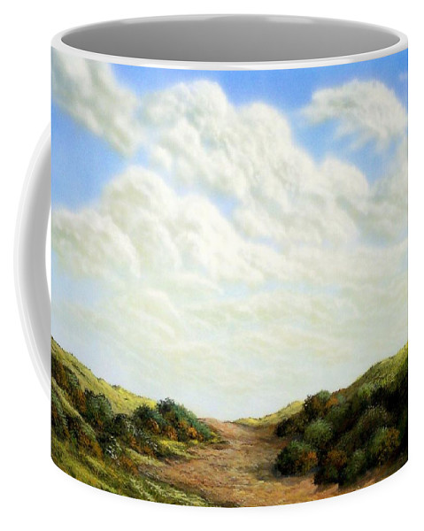 Landscape Coffee Mug featuring the painting Clouds Of Spring by Frank Wilson