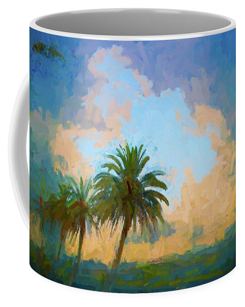 Alicegipsonphotographs Coffee Mug featuring the photograph Clouds On The Loop by Alice Gipson