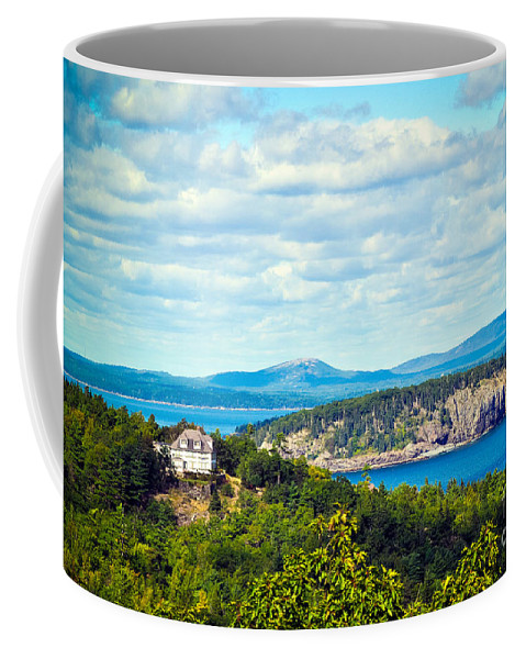 Maine Coffee Mug featuring the photograph Clouds Over Acadia by Anna Serebryanik