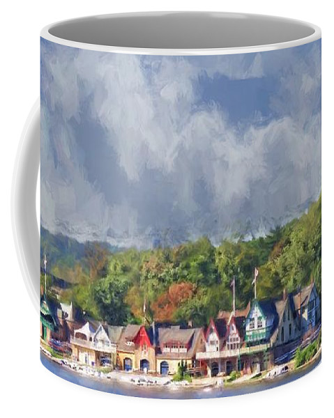 Alicegipsonphotographs Coffee Mug featuring the photograph Clouds Over Boathouse Row by Alice Gipson