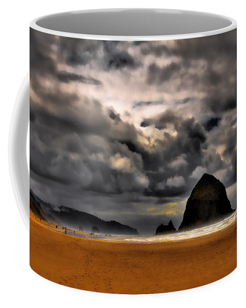 Cannon Beach Coffee Mug featuring the photograph Clouds Over Cannon Beach by David Patterson