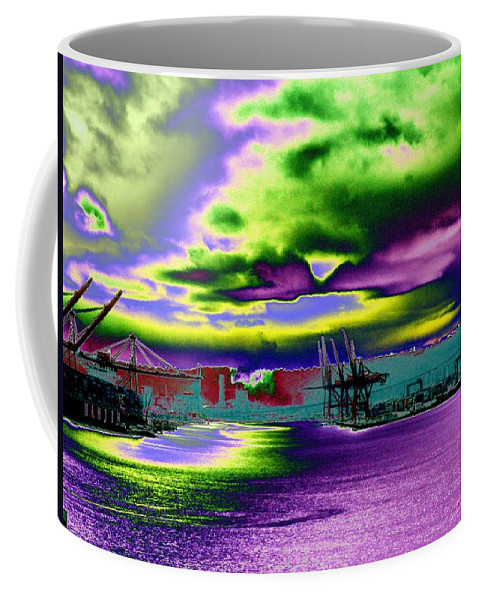 Seattle Coffee Mug featuring the photograph Clouds Over Harbor Island by Tim Allen