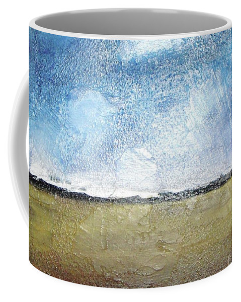 Clouds Coffee Mug featuring the painting Flying Clouds by Vesna Antic