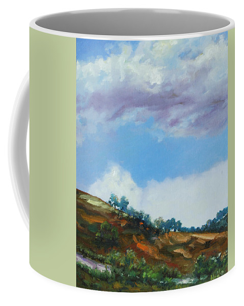 Sky Coffee Mug featuring the painting Clouds by Rick Nederlof
