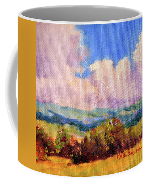 Impressionism Coffee Mug featuring the painting Cloudscape 2 by Keith Burgess