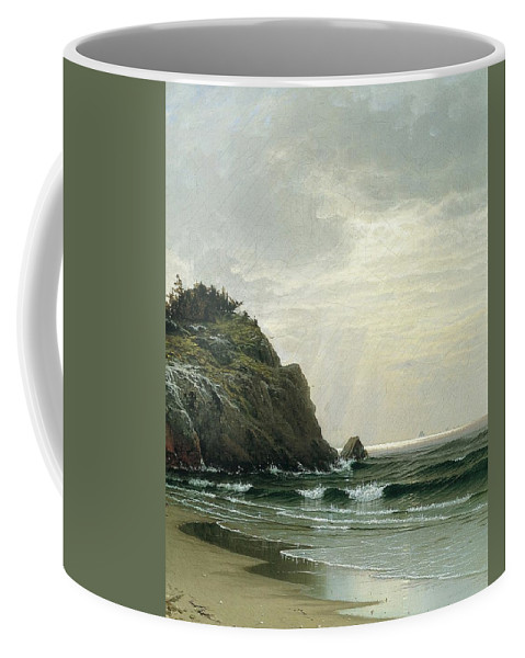 Cloudy Day Coffee Mug featuring the digital art Cloudy Day by Mark Carlson