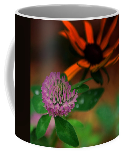 Clover Coffee Mug featuring the photograph Clover In My Yard by Susanne Van Hulst