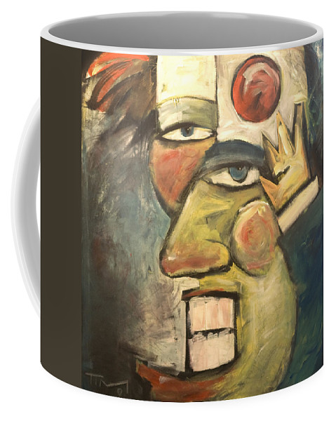 Clown Coffee Mug featuring the painting Clown Painting by Tim Nyberg