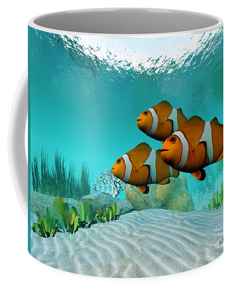 Clownfish Coffee Mug featuring the painting Clownfish by Corey Ford