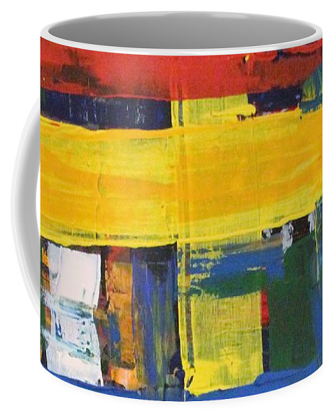 Red Coffee Mug featuring the painting Club House by Pam Roth O'Mara