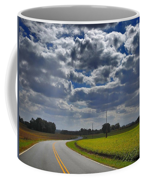 Nature Coffee Mug featuring the photograph Clyde Fitzgerald Road Scenery by Matt Taylor