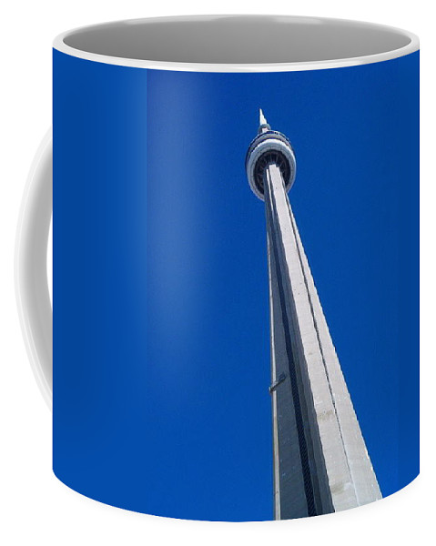 Landscape Coffee Mug featuring the photograph Cn Tower by Debbie Levene