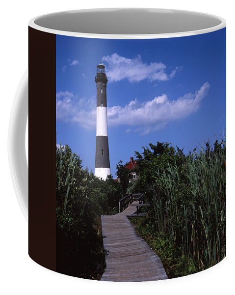 Landscape Lighthouse Fire Island Coffee Mug featuring the photograph Cnrf0702 by Henry Butz