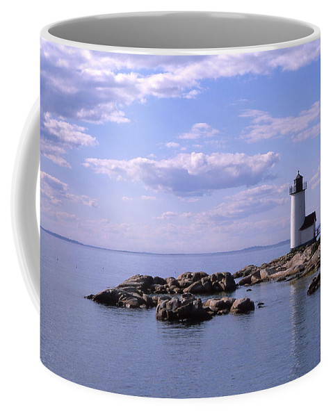 Landscape Lighthouse New England Nautical Coffee Mug featuring the photograph Cnrf0901 by Henry Butz