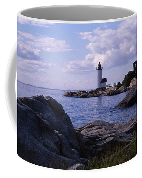 Landscape Lighthouse New England Annisquam Harbor Light Gloucester Coffee Mug featuring the photograph Cnrf0903 by Henry Butz