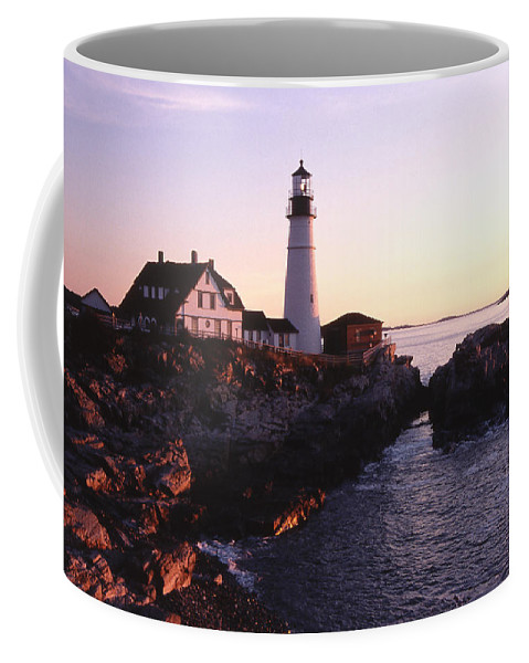 Landscape Lighthouse Nautical New England Portland Head Light Cape Elizabeth Coffee Mug featuring the photograph Cnrf0904 by Henry Butz