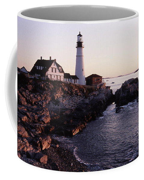 Landscape Lighthouse Nautical New England Portland Head Light Cape Elizabeth Coffee Mug featuring the photograph Cnrf0905 by Henry Butz