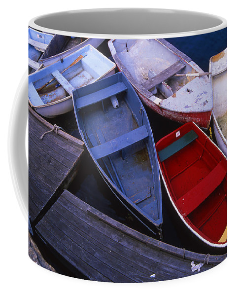 Landscape New England Boat Fishing Nautical Coast Coffee Mug featuring the photograph Cnrf0906 by Henry Butz