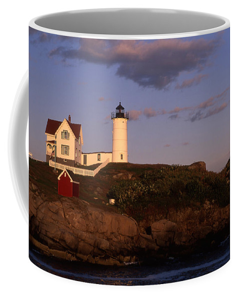 Landscape New England Lighthouse Nautical Coast Coffee Mug featuring the photograph Cnrf0908 by Henry Butz