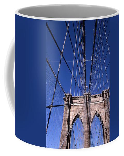 Landscape Brooklyn Bridge New York City Coffee Mug featuring the photograph Cnrg0407 by Henry Butz