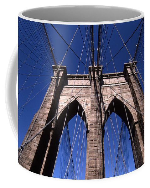 Landscape Brooklyn Bridge New York City Coffee Mug featuring the photograph Cnrg0409 by Henry Butz