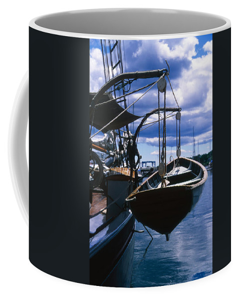 Landscape Camden Harbor Maine Sail Boat Harbor Nautical Coffee Mug featuring the photograph Cnrh0601 by Henry Butz