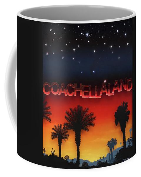 Land/skyscape Coffee Mug featuring the painting Coachellaland by Jon Carroll Otterson