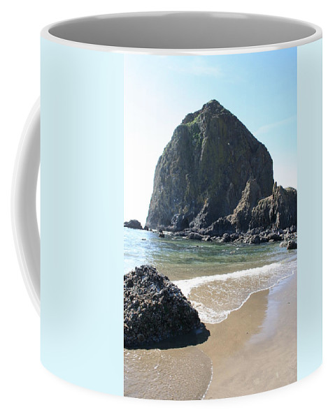 Coastal Landscape Coffee Mug featuring the photograph Coastal Landscape - Cannon Beach Afternoon - Scenic Lanscape by Quin Sweetman