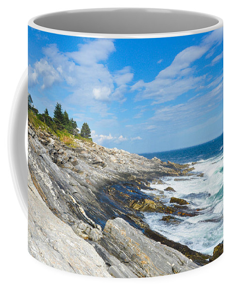 Maine Coffee Mug featuring the photograph Coastal Maine by Anna Serebryanik