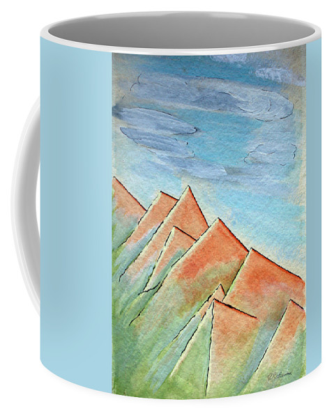 Painting Coffee Mug featuring the painting Coastal Range by J R Seymour