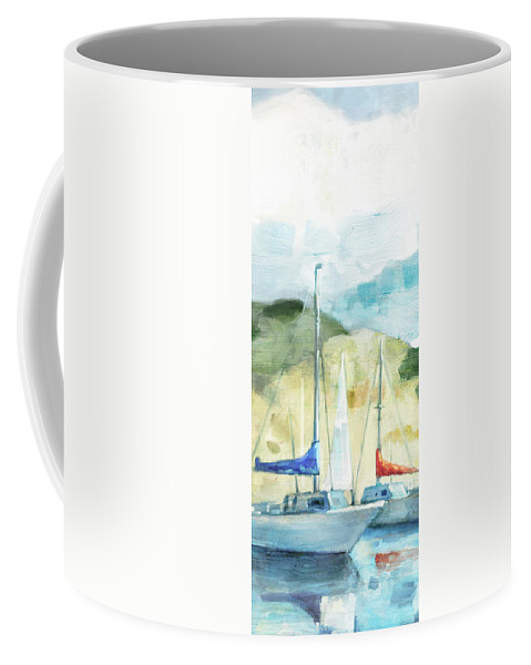 Coastal Coffee Mug featuring the painting Coastal Sails by Mauro DeVereaux