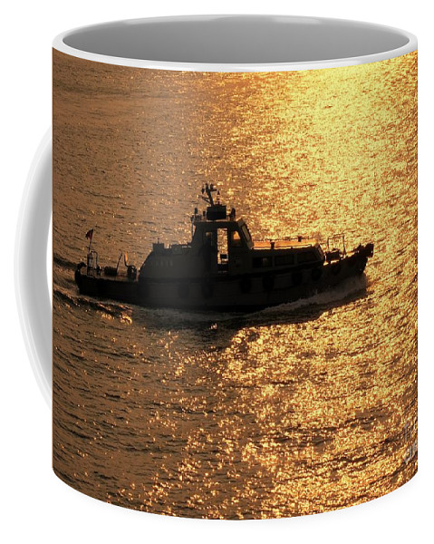 Ship Coffee Mug featuring the photograph Coastguard Vessel by Yali Shi