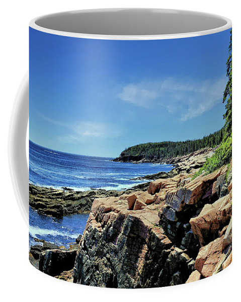Sky Coffee Mug featuring the photograph Coastline And Otter Cliff 1 by John Trommer
