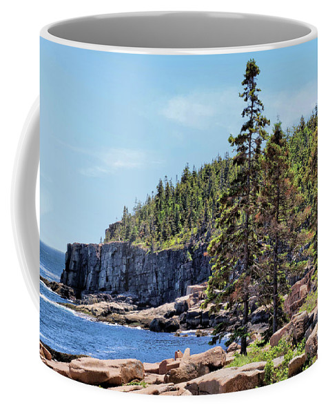 Cliff Coffee Mug featuring the photograph Coastline And Otter Cliff 4 by John Trommer