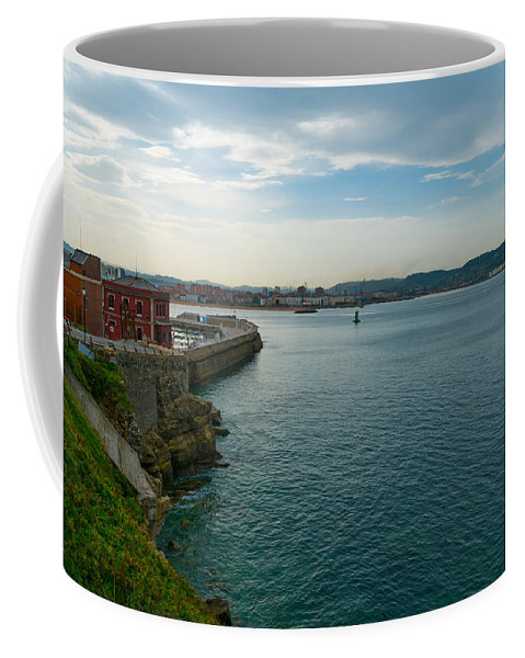 Spain Coffee Mug featuring the photograph Coastline Of The Bay by Ric Schafer