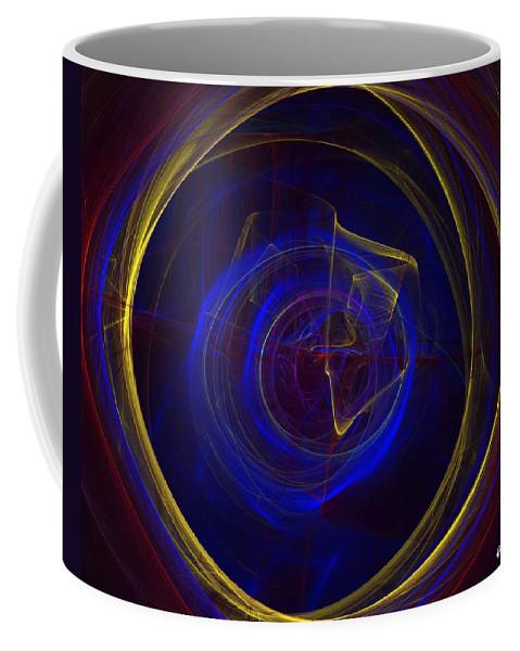 Apophysis Coffee Mug featuring the digital art Cobalt Blue by Deborah Benoit