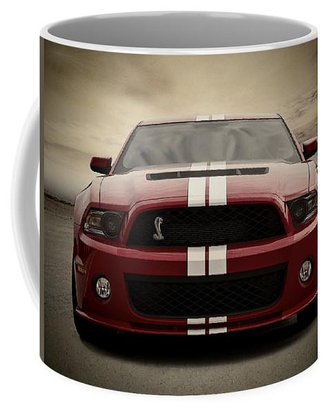 Red Coffee Mug featuring the digital art Cobra Red by Douglas Pittman