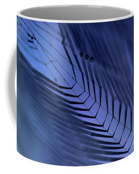 Dewy Coffee Mug featuring the photograph Cobweb by Michal Boubin