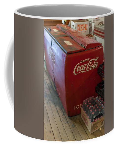 Terry D Photography Coffee Mug featuring the photograph Coca-cola Chest Cooler General Store by Terry DeLuco