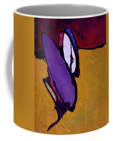 Abstract Coffee Mug featuring the painting Cockroach Loosille Ball by Marlene Burns