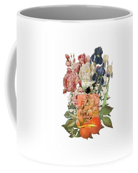 Chanel Coffee Mug featuring the painting Coco Mademoiselle Notes by Diana Van