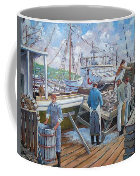 Cod Coffee Mug featuring the painting Cod Memories by Richard T Pranke