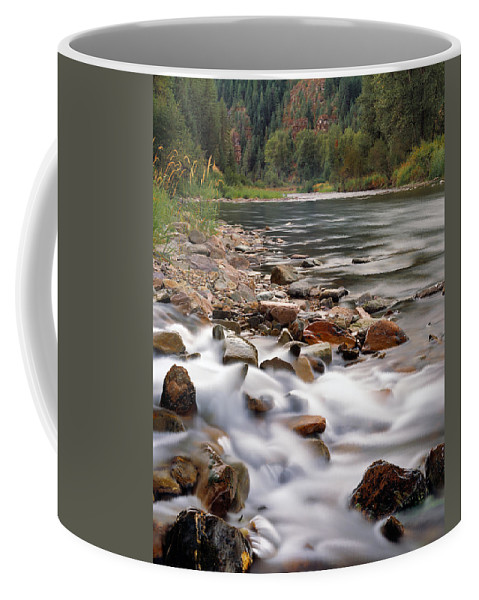 Coeur D' Alene River Coffee Mug featuring the photograph Coeur D'alene River by Leland D Howard