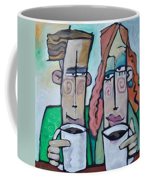 Coffee Coffee Mug featuring the painting Coffee Date by Tim Nyberg