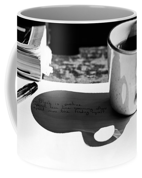 Coffee Coffee Mug featuring the photograph Coffee Poetry by James Hennis